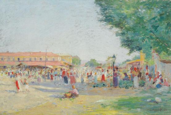 Nicolae Grant - Târg la Golești