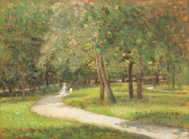 Niculina Dona Delavrancea - Plimbare in parc