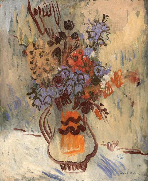 Niculina Dona Delavrancea - Vas cu flori