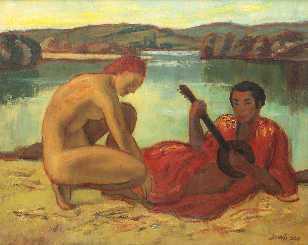 Paul Scorţescu - Înserare pe insula San Vincent