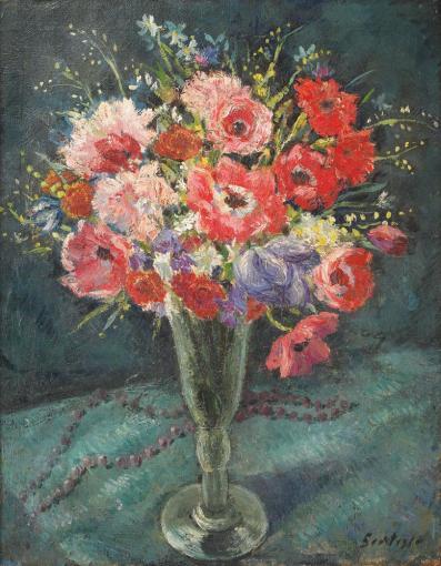 Paul Scorţescu - Pahar cu flori de câmp
