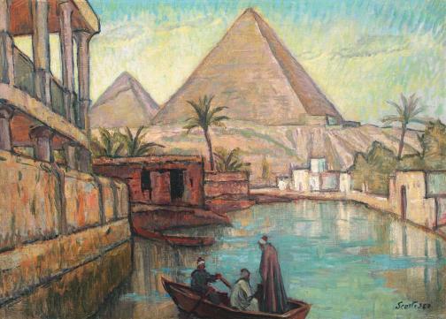 Paul Scorţescu - Peisaj din Egipt