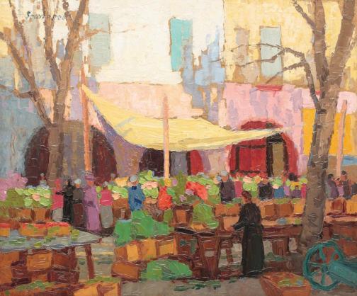 Paul Scorţescu - Piaţa de flori