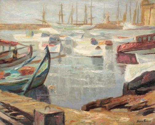 Paul Scorţescu - Port din Mediterană