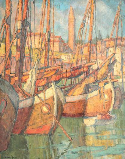 Paul Scorţescu - Vase în portul Veneției