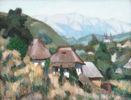 Rodica Maniu Mutzner - Sat de munte (Vedere spre Piatra Craiului)