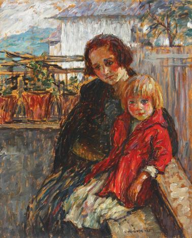 Samuel Mützner - Alături de mama