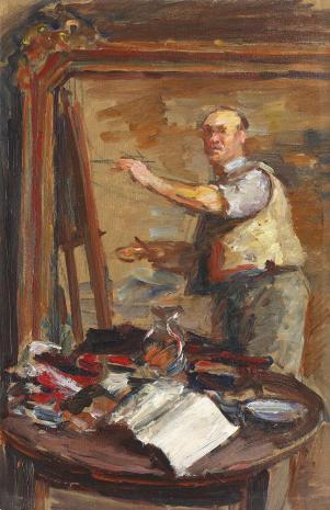 Samuel Mützner - Autoportret la șevalet