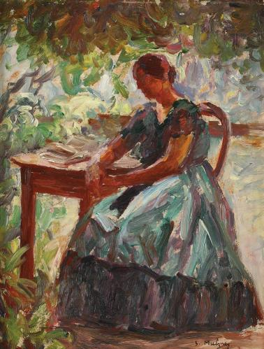 Samuel Mützner - În grădină la Șopârlița