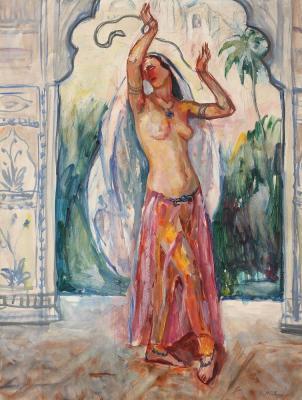 Samuel Mützner - Dansatoare orientală.