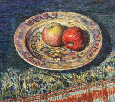 Samuel Mützner - Farfurie țărănească cu mere