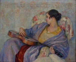 Samuel Mützner - Femeie cantand la chitara