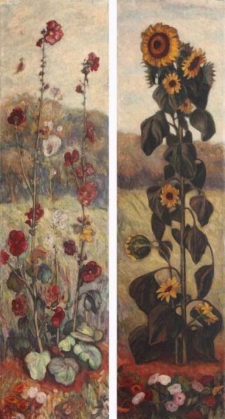 Samuel Mützner - Flori (2 panouri decorative)