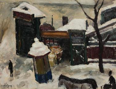 Samuel Mützner - Peisaj de iarnă