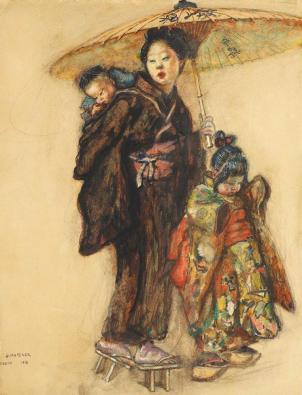 Samuel Mützner - Scenă japoneză