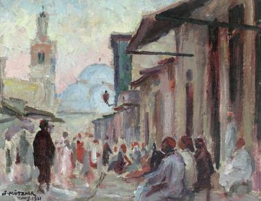 Samuel Mützner - Stradă în Tunis