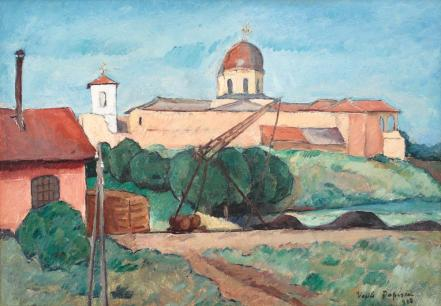Vasile Popescu - Peisaj la Comana
